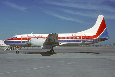 Inter-Canadian Airlines (1st) (Canadian Partner) (Quebecair) Convair 580 C-GQBN (msn 50) YUL (Pierre Langlois). Image: 946860.