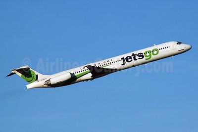 Jetsgo (jetsgo.net) McDonnell Douglas DC-9-83 (MD-83) C-FRYA (msn 53488) YYC (Chris Sands). Image: 925287.