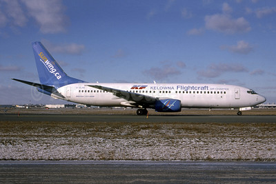 Operated by Sunwing Airlines, leased from Excel Airways on December 5, 2003