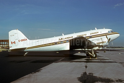 Millardair Douglas C-47A-DL (DC-3) C-GNOA (msn 19627) MIA (Bruce Drum). Image: 104053.