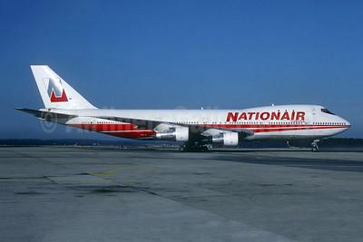 Nationair Canada Boeing 747-257B N303TW (msn 20116) (TWA colors) LGW (Christian Volpati Collection). Image: 944400.