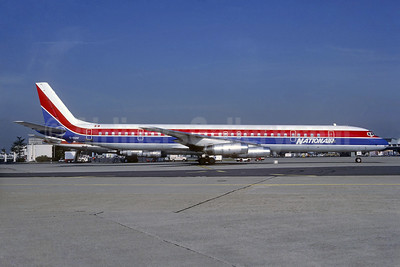 Nationair Canada McDonnell Douglas DC-8-61 C-GQBF (msn 46116) (Quebecair colors) ORY (Jacques Guillem). Image: 936730.
