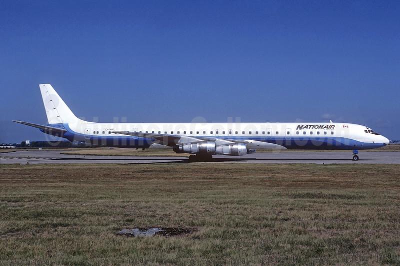 Nationair Canada McDonnell Douglas DC-8-61 C-GMXL (msn 45981) (ONA colors) ORY (Jacques Guillem). Image: 936732.