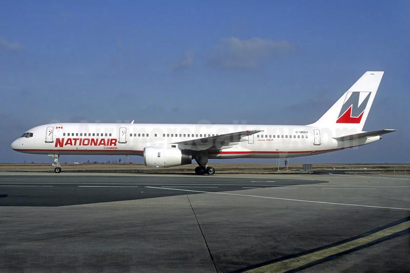 Nationair Canada Boeing 757-28A C-GNXU (msn 24543) CDG (Christian Volpati). Image: 936829.