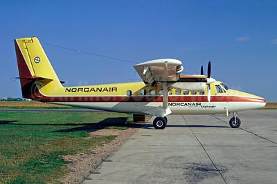 Norcanair-Transair de Havilland Canada DHC-6-200 Twin Otter CF-AIV (msn 215) (Transair colors) YQR (Bruce Drum). Image: 103019.