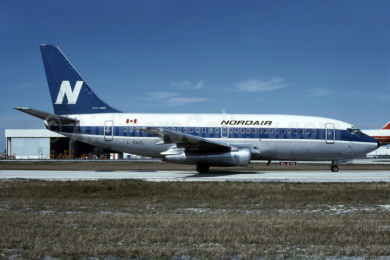 Nordair Boeing 737-242 C-GNDL (msn 21186) MIA (Bruce Drum). Image: 101905.