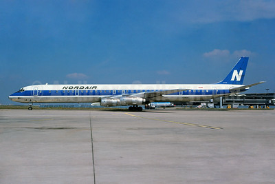 Nordair McDonnell Douglas DC-8-61CF C-GNDA (msn 45902) ORY (Bruce Drum Collection). Image: 929967.