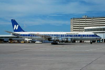 Nordair McDonnell Douglas DC-8-52 C-GNDE (msn 45618) YYZ (Gary Vincent - Bruce Drum Collection). Image: 929966.