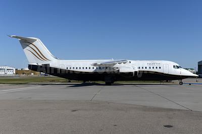 North Cariboo Air BAe RJ100 C-FSUA (msn E3373) YYC (Ton Jochems). Image: 928388.