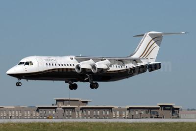 North Cariboo Air BAe RJ100 C-FSUA (msn E3373) YYC (Chris Sands). Image: 926589.