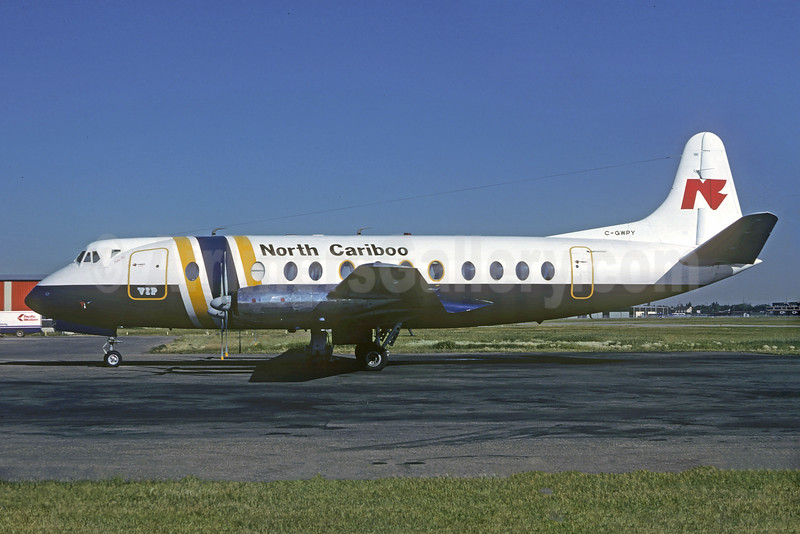 North Cariboo Flying Service Vickers Viscount 806 C-GWPY (msn 311) YVR (Christian Volpati Collection). Image: 920590.
