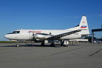 Purolator Courier-Kelowna Flightcraft Air Charter Convair 580 C-FKFZ (msn 151) YVR (Ton Jochems). Image: 923911.