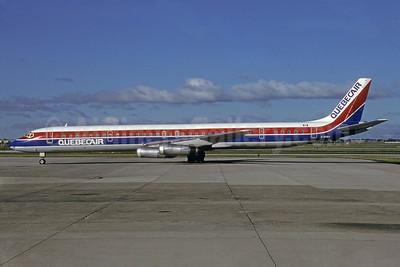 Quebecair McDonnell Douglas DC-8-63 C-GQBA (msn 46155) YYZ (Mario Mattarelli - Bruce Drum Collection). Image: 912183.