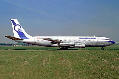 Quebecair Boeing 707-123B C-GQBG (msn 17647) LBG (Christian Volpati). Image: 950419.