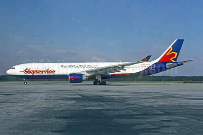 """""""First A330 in North America"""" - delivered May 6, 1997"""
