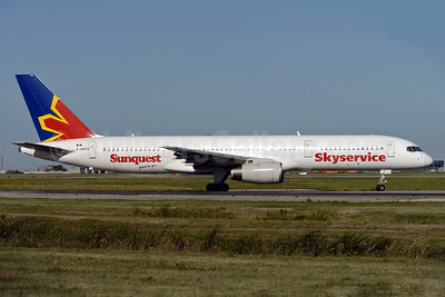 Skyservice Airlines Boeing 757-236 C-GMYH (msn 25053) (Sunquest Vacations) YYZ (TMK Photography). Image: 904312.
