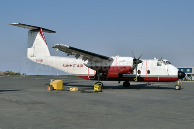 Summit Air Charters (Canada) de Havilland Canada DHC-5A Buffalo C-FASY (msn 107) (Arctic Sunwest colors) YZF (Tony Storck). Image: 923894.