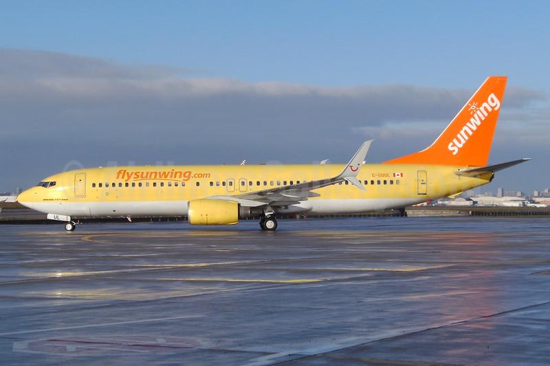 Sunwing Airlines (flysunwing.com) Boeing 737-8K5 SSWL C-GUUL (msn 38820) (TUIfly colors) YYZ (TMK Photography). Image: 930908.