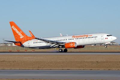 Sunwing Airlines (flysunwing.com) Boeing 737-8Q8 SSWL C-FYJD (msn 41807) YYC (Chris Sands). Image: 932429.