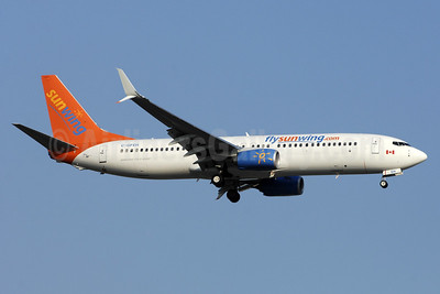 Sunwing Airlines (flysunwing.com) Boeing 737-8GS SSWL C-GFEH (msn 41608) YYZ (TMK Photography). Image: 935020.