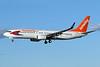 Sunwing Airlines (flysunwing.com) (Travel Service Airlines) Boeing 737-8FH WL C-GTVF (msn 29669) (Travel Service Airlines partial colors) LAS (James Helbock). Image: 930282.