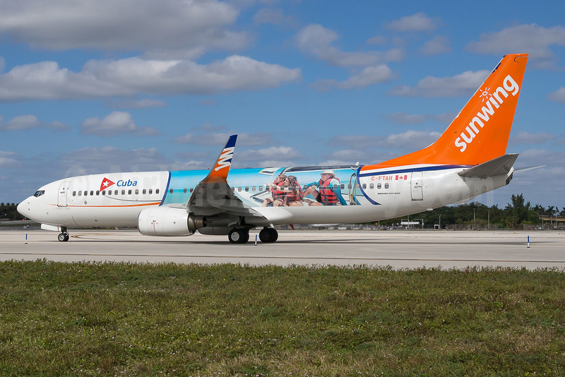 Sunwing's 2016 Cuba promotional livery