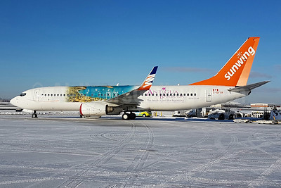 "Sunwing's 2017 ""Antigua and Barbuda"" promotional livery"
