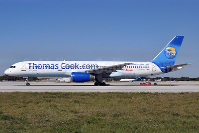 Thomas Cook Airlines (Thomas Cook.com) (Canada)-Jazz Aviation Boeing 757-25F C-GJZX (msn 28718) FLL (Tony Storck). Image: 907762.