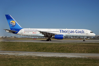 Thomas Cook Airlines (Thomas Cook.com) (Canada)-Jazz Aviation Boeing 757-28A C-GJZB (msn 28203) YYZ (TMK Photography). Image: 908385.