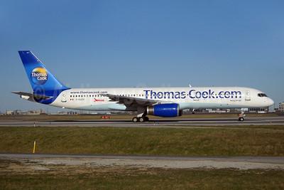 Thomas Cook Airlines (Thomas Cook.com) (Canada)-Jazz Aviation Boeing 757-28A C-GJZV (msn 27621) YYZ (TMK Photography). Image: 908386.