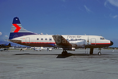 Time Air - Canadian Partner Convair 580 C-GTAO (msn 116) (Canadian Partner colors) YVR (Christian Volpati Collection). Image: 947929.