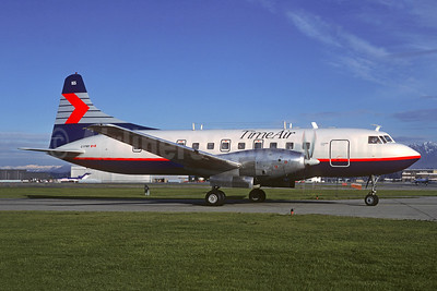 Time Air - Canadian Partner Convair 640 C-FPWY (msn 108) (Canadian Partner colors) YVR (Jacques Guillem Collection). Image: 947934.