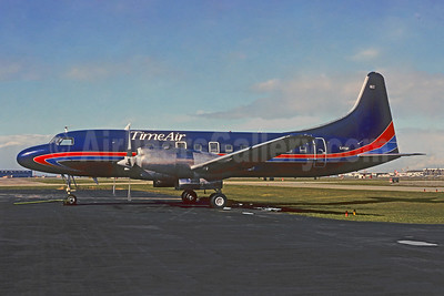 Time Air Convair 580 C-FTAP (msn 334) (Domino's Pizza colors) YVR (Christian Volpati Collection). Image: 947932.
