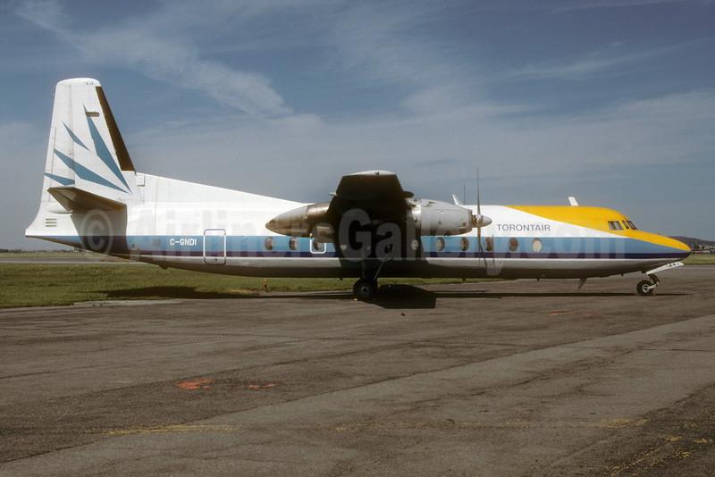 Torontair (Nordair) Fairchild Hiller FH-227B C-GNDI (msn 564) (Nordair colors) YUL (Pierre Langlois). Image: 929965.