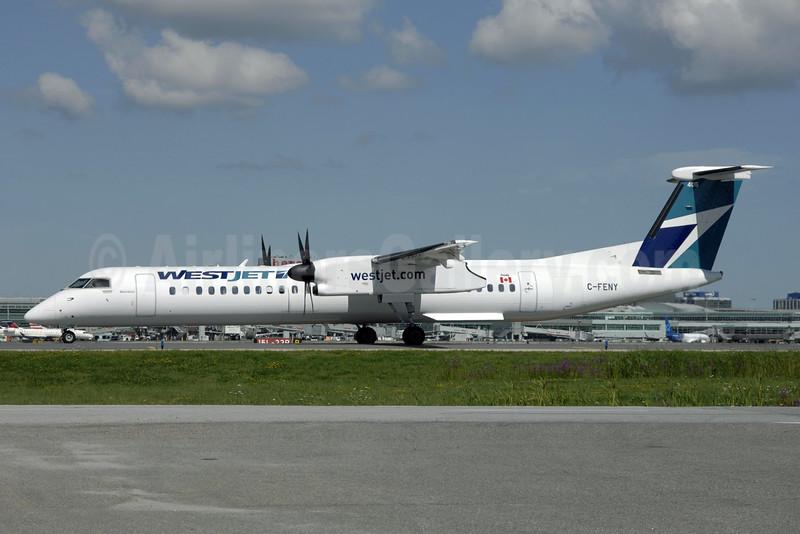 WestJet Encore Bombardier DHC-8-402 (Q400) C-FENY (msn 4447) YYZ (TMK Photography). Image: 924512.