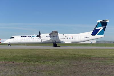 WestJet Encore Bombardier DHC-8-402 (Q400) C-FNEN (msn 4453) YYC (Ton Jochems). Image: 928307.