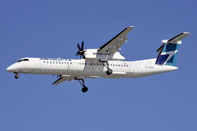WestJet Encore Bombardier DHC-8-402 (Q400) C-FHEN (msn 4441) YVR (Steve Bailey). Image: 924513.