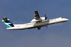 WestJet Encore Bombardier DHC-8-402 (Q400) C-FWEZ (msn 4483) YVR (Brandon Farris). Image: 931590.
