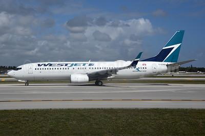 WestJet Airlines Boeing 737-8CT SSWL C-GZWS (msn 32770) FLL (Bruce Drum). Image: 104624.