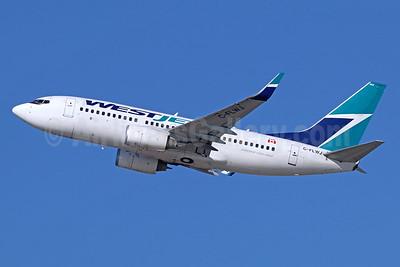 WestJet Airlines Boeing 737-7CT WL C-FLWJ (msn 38096) LAX (Michael B. Ing). Image: 936414.