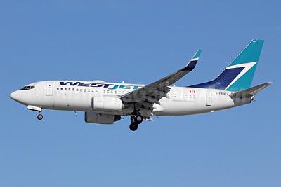 WestJet Airlines Boeing 737-7CT WL C-FEWJ (msn 32769) LAX (Michael B. Ing). Image: 921618.