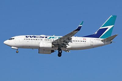 WestJet Airlines Boeing 737-7CT WL C-GWSN (msn 37089) LAX (Michael B. Ing). Image: 938960.