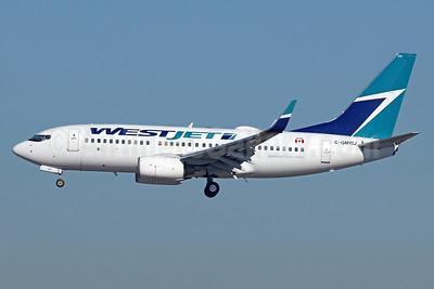 WestJet Airlines Boeing 737-7CT WL C-GMWJ (msn 35985) LAX (Michael B. Ing). Image: 938959.