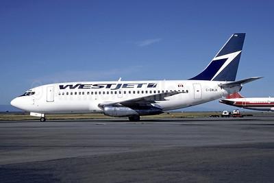 WestJet Airlines Boeing 737-275 C-GWJK (msn 19743) YVR (Jacques Guillem Collection). Image: 946410.