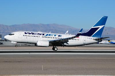 WestJet Airlines Boeing 737-7CT WL C-FKIW (msn 37955) LAS (Ton Jochems). Image: 910949.