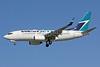 WestJet Airlines Boeing 737-7CT WL C-GWSQ (msn 37091) LAX (Michael B. Ing). Image: 908266.