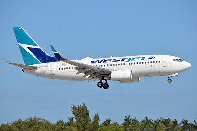 WestJet Airlines Boeing 737-7CT WL C-GUWJ (msn 36422) FLL (Bruce Drum). Image: 104549.