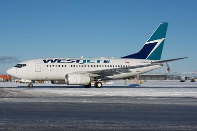 WestJet Airlines Boeing 737-6CT C-GBWS (msn 34288) YVR (Rob Rindt). Image: 941098.