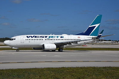 WestJet Airlines Boeing 737-7CT WL C-GUWJ (msn 36422) FLL (Bruce Drum). Image: 104550.