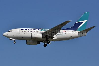 WestJet Airlines Boeing 737-6CT C-GXWJ (msn 35570) YVR (Tony Storck). Image: 906009.